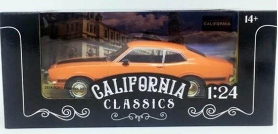 Miniatura Ford Maverick GT 1974 com Defeito 1/24 California Classics