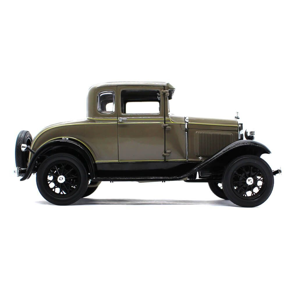 Miniatura Ford Model A Coupe 1931 Chicle Drab 1/18 Sun Star Ford Classic Collectibles
