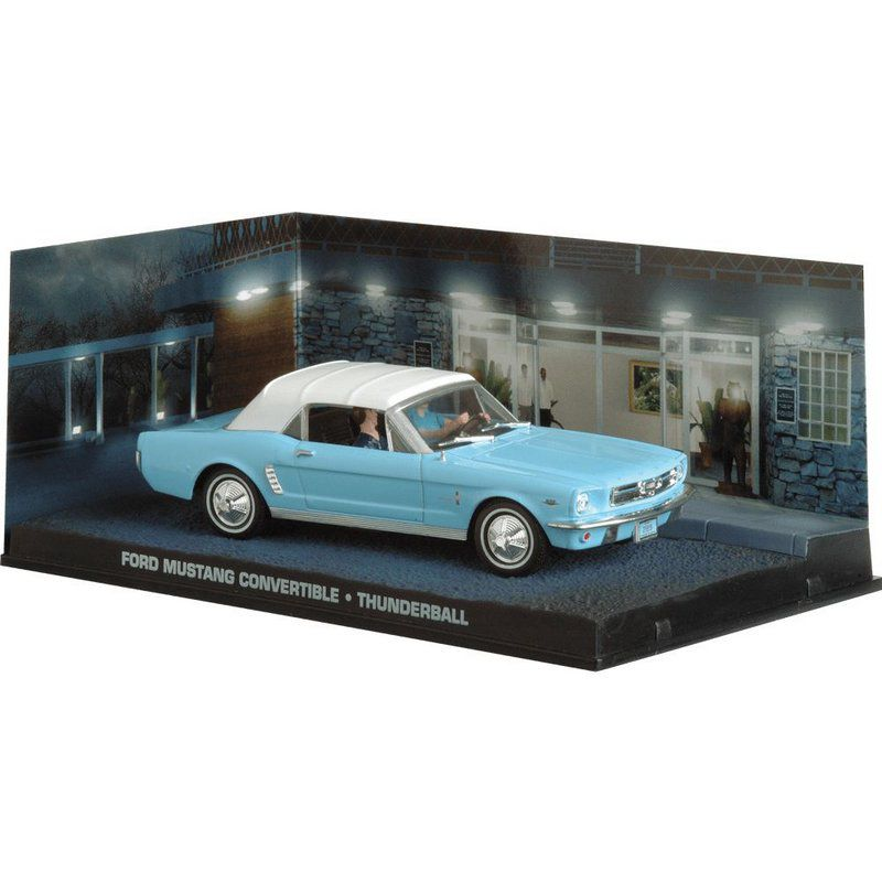 Miniatura Ford Mustang – 007 James Bond Contra Chantagem Atômica 1/43 IXO