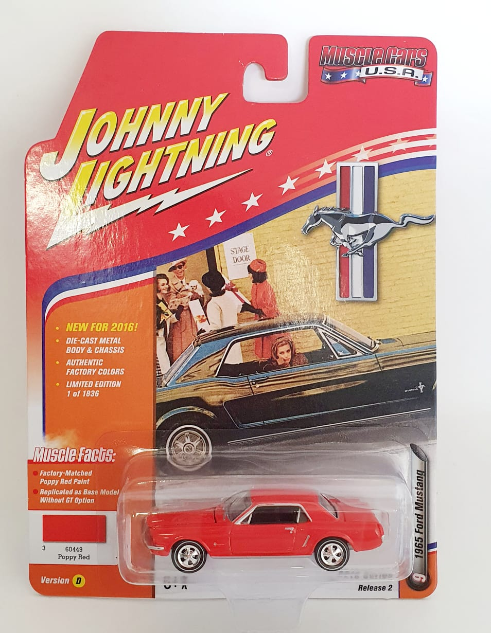 Miniatura Ford Mustang 1965 Muscle Cars 1/64 Johnny Lightning