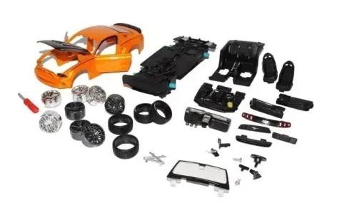 Miniatura Ford Mustang 2014 Street Racer Kit Em Metal 1/24 Maisto
