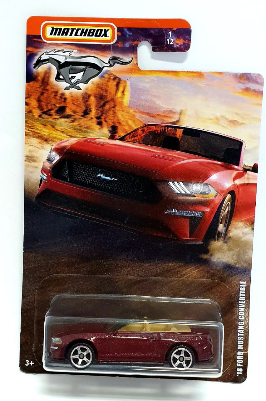 Miniatura Ford Mustang 2018 Convertible 1/64 Matchbox