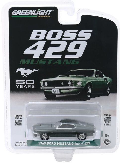 Miniatura Ford Mustang Boss 1969 1/64 Greenlight