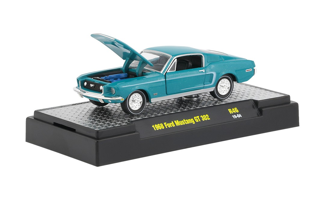Miniatura Ford Mustang GT 302 1968 1/64 M2