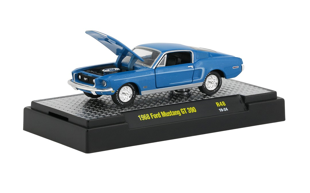 Miniatura Ford Mustang GT 390 1968 1/64 M2