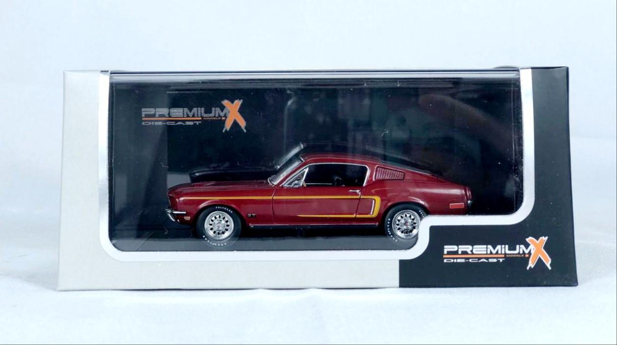 Miniatura Ford Mustang GT Fastback 1968 1/43 Premium X