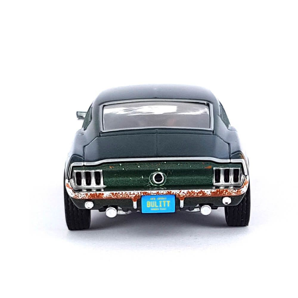 Miniatura Ford Mustang GT 1968 Unrestored Bullit Steve McQueen Collection 1/43 Greenlight
