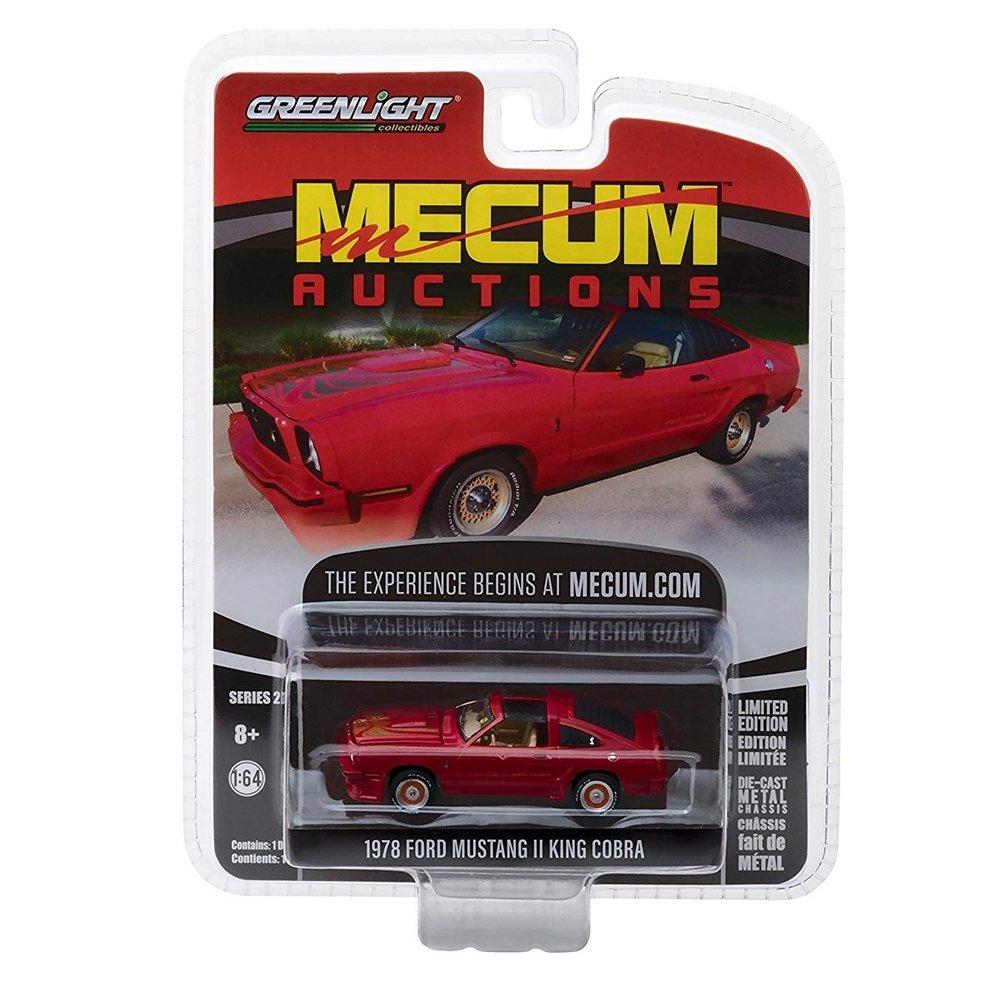 Miniatura Ford Mustang II King Cobra 1978 Mecum Auctions 1/64 Greenlight