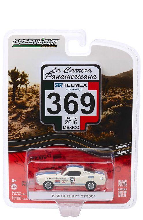 Miniatura Ford Mustang Shelby 1965 #369 La Carrera Panamericana 2016 1/64 Greenlight
