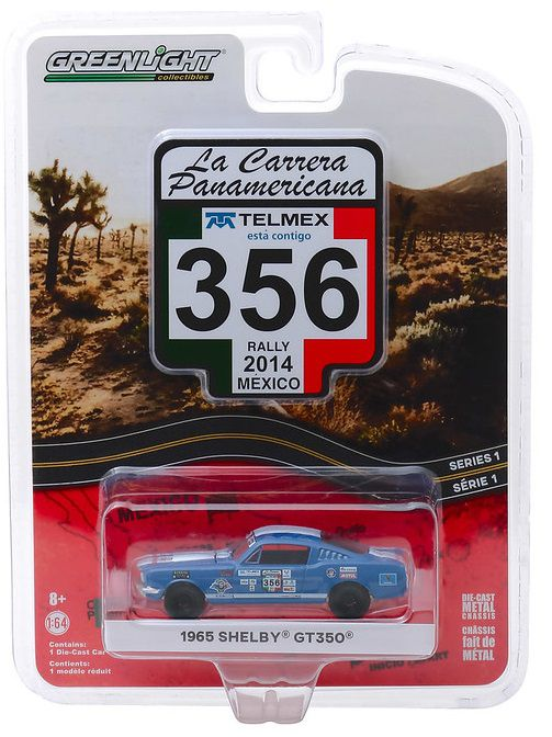 Miniatura Ford Mustang Shelby GT350 #356 La Carrera Panamericana 2014 1/64 Greenlight