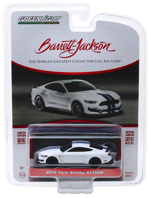 Miniatura Ford Mustang Shelby GT350R 2015 Barret Jackson 1/64 Greenlight