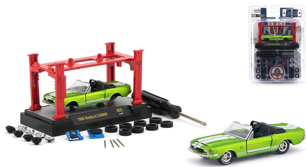 Miniatura Ford Mustang Shelby GT500KR 1968 Elevador Troca Rodas 1/64 M2