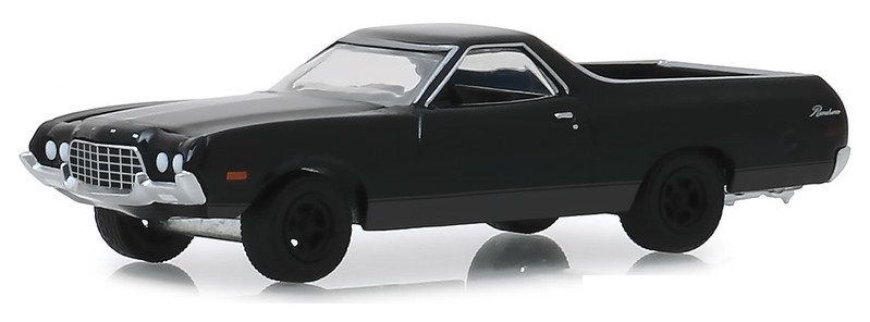 Miniatura Ford Ranchero 1972 Black Bandit 1/64 Greenlight