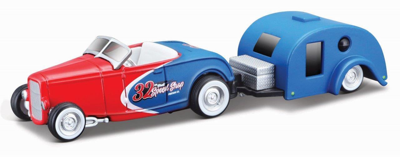 Miniatura Ford Roadster 1932 Trailer Design Elite Transport 1/64 Maisto