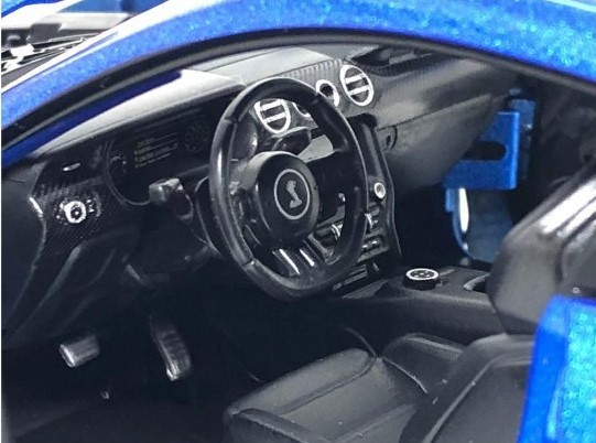 Miniatura Ford Shelby Mustang GT 500 2020 Azul 1/18 Maisto