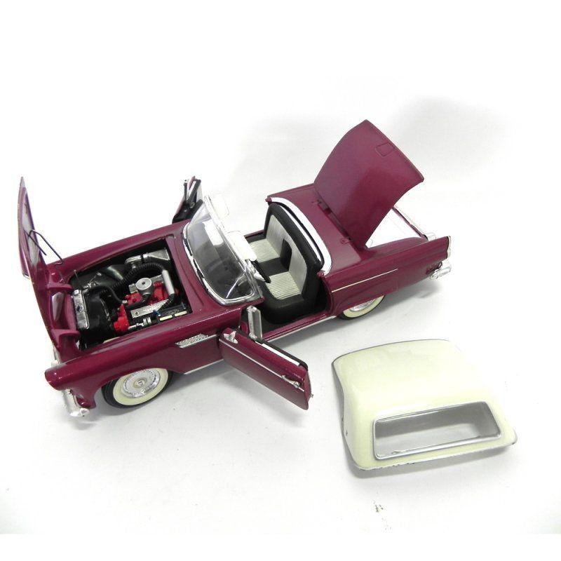 Miniatura Ford Thunderbird 1955 1/18 Yat Ming Com Defeito