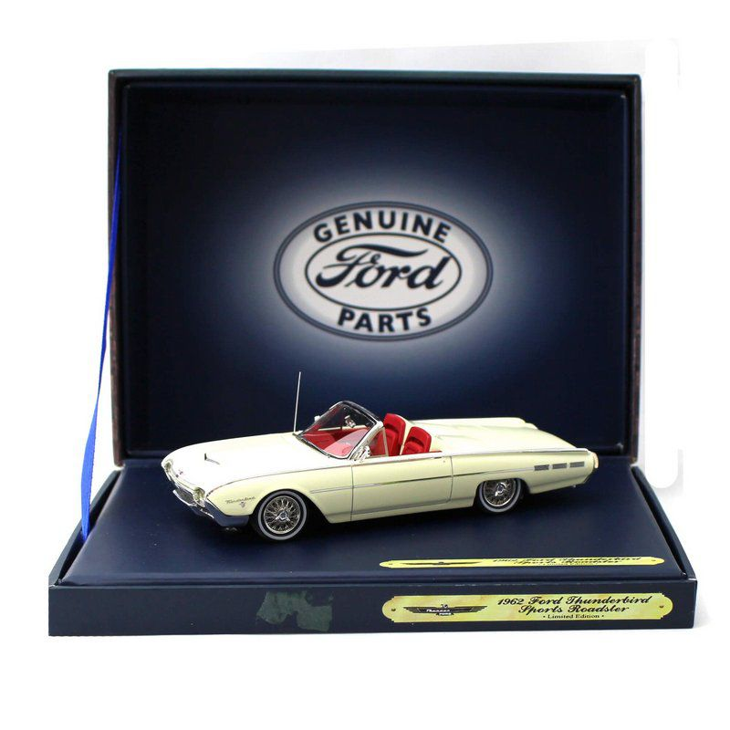 Miniatura Ford Thunderbird Sport Roadster 1962 Branco Lotus 1/43 Motor Head