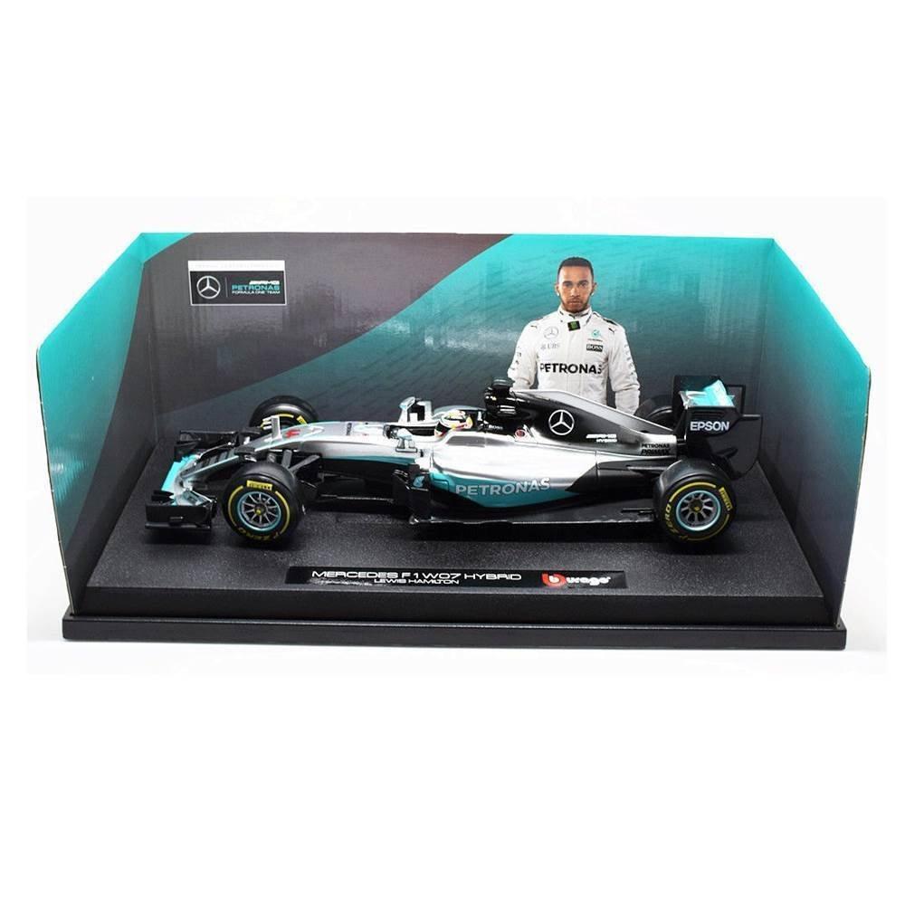 Miniatura Formula 1 Mercedes Benz W07 Hamilton Petronas 2016 1/18 BBurago