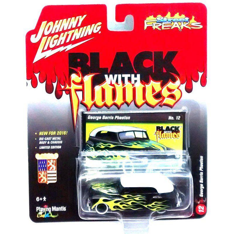 Miniatura George Barris Phaeton Black With Flames C 1/64 Johnny Lightning