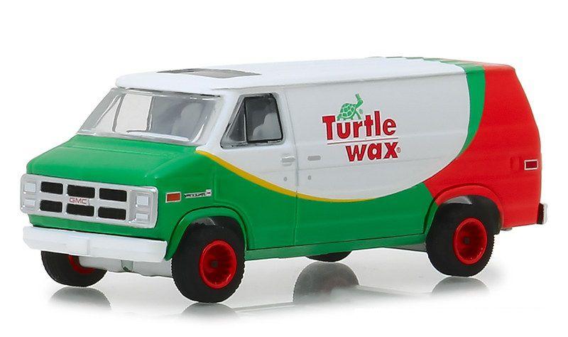 Miniatura GMC 1983 Vandura Turtle Wax 1/64 Greenlight