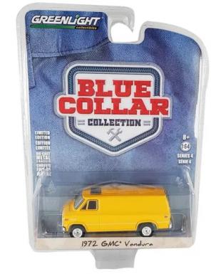 Miniatura GMC Vandura 1972 Blue Collar Serie 4 1/64 Greenlight