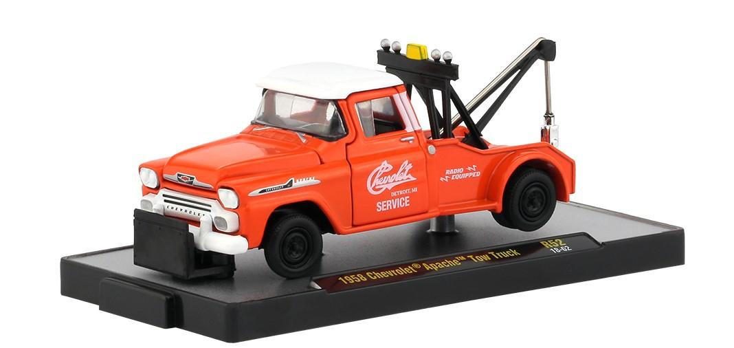 Miniatura Guincho Chevrolet Apache Tow Truck 1958 1/64 M2
