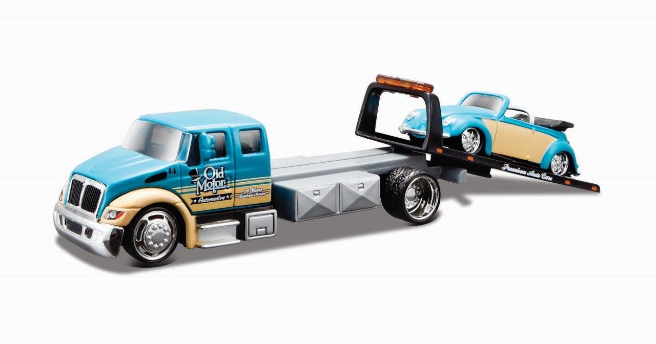Miniatura Guincho International Volkswagen Fusca Design Elite Transport 1/64 Maisto