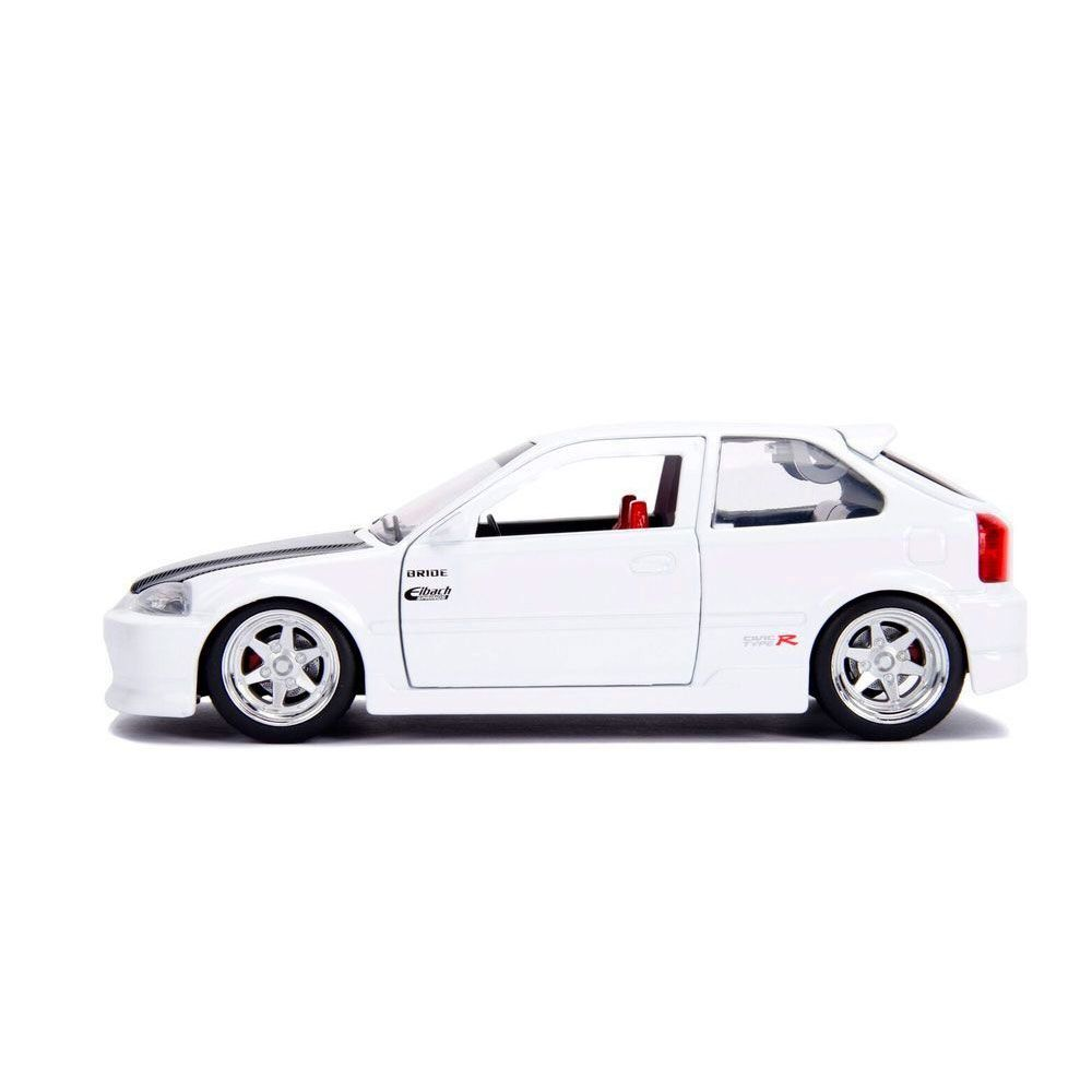 Miniatura Honda Civic 1997 EK Type R JDM Branco 1/24 Jada Toys