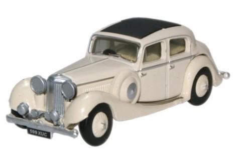 Miniatura Jaguar SS 2.5 Saloon Cream 1/76 Oxford