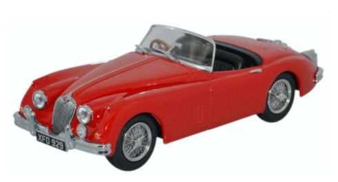 Miniatura Jaguar XK 150 Roadster Carmen Red 1/43 Oxford