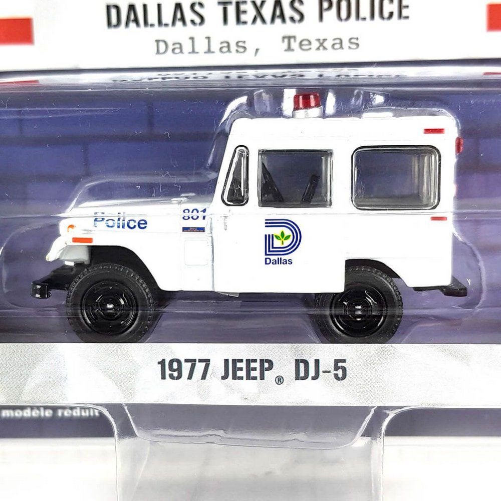 Miniatura Jeep DJ5 1977 Policia Hot Pursuit Serie 29 1/64 Greenlight