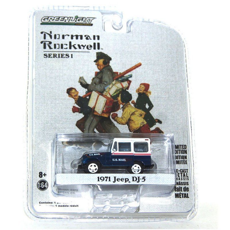 Miniatura Jeep DJ-5 1971 Norman Rockwell 1/64 Greenlight