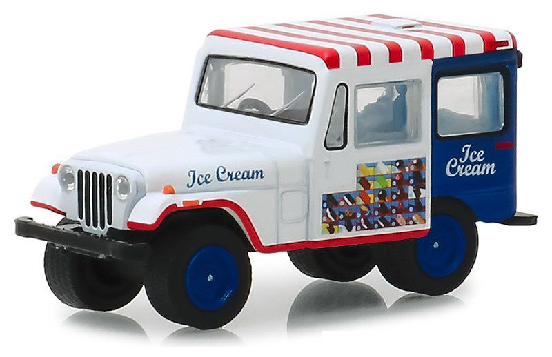 Miniatura Jeep DJ-5 1975 Ice Cream Truck 1/64 Greenlight