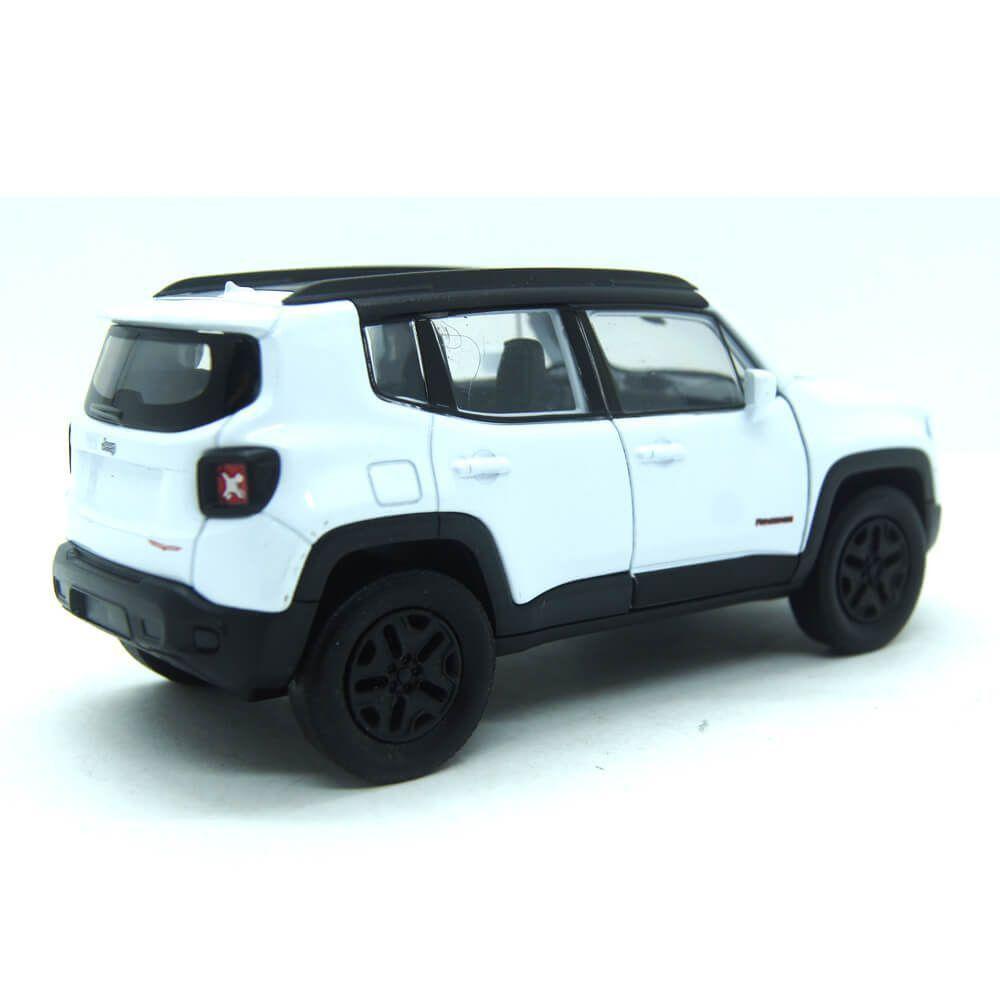Miniatura Jeep Renegade Branco Com Fricção 1/32 Welly