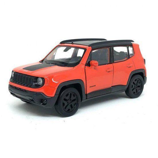 """Miniatura Jeep Renegade Fricção 4,5"""" 1/43 Welly"""