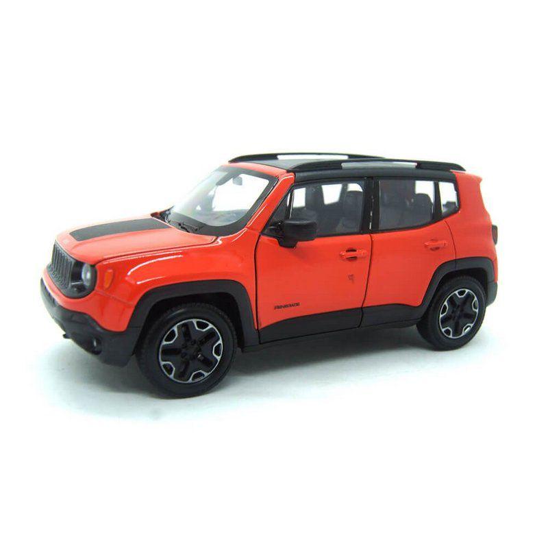 Miniatura Jeep Renegade Laranja 1/24 Welly