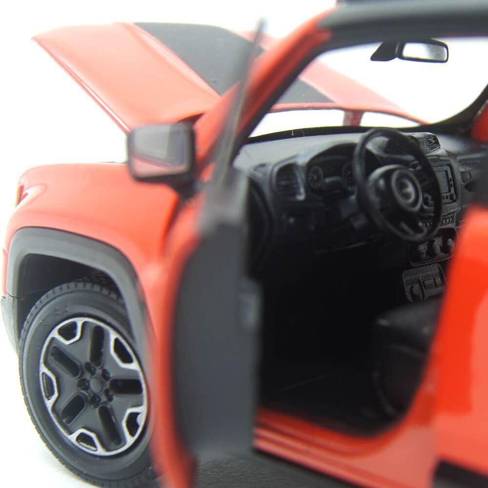 Miniatura Jeep Renegade Laranja Com Fricção 1/32 Welly
