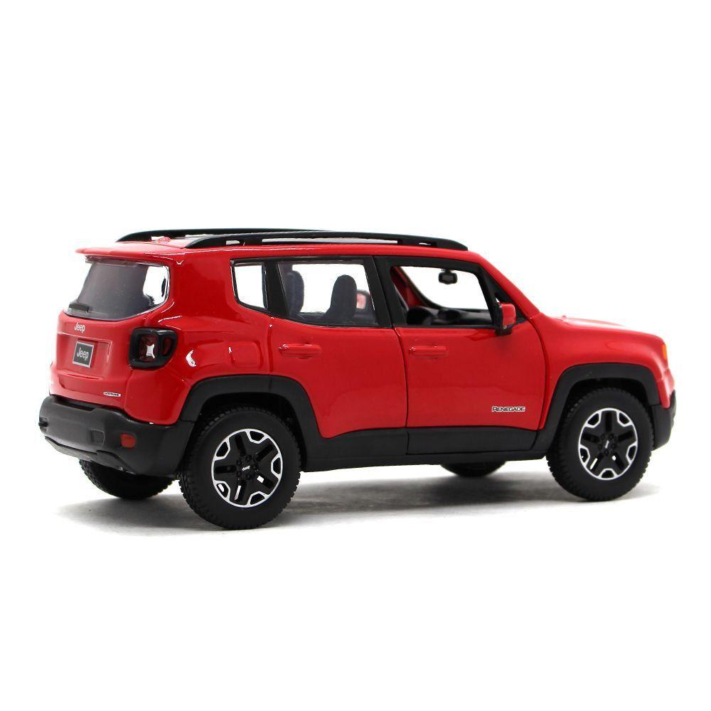 Miniatura Jeep Renegade Vermelho 1/24 Maisto Special Edition