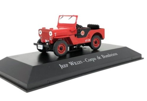 Miniatura Jeep Willys Corpo de Bombeiros 1/43 Ixo