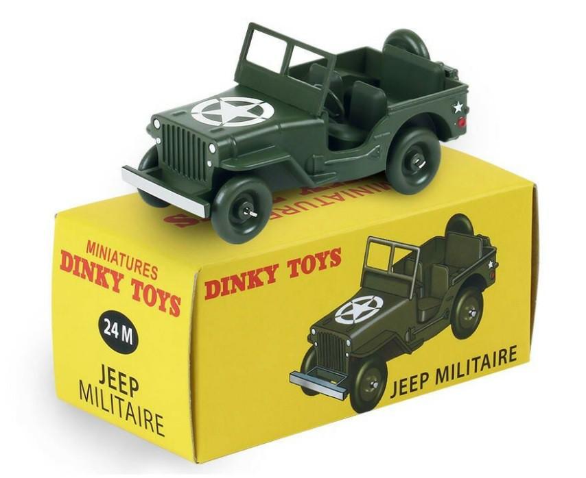 Miniatura Jeep Willys Militar 1/43 Dinky Toys