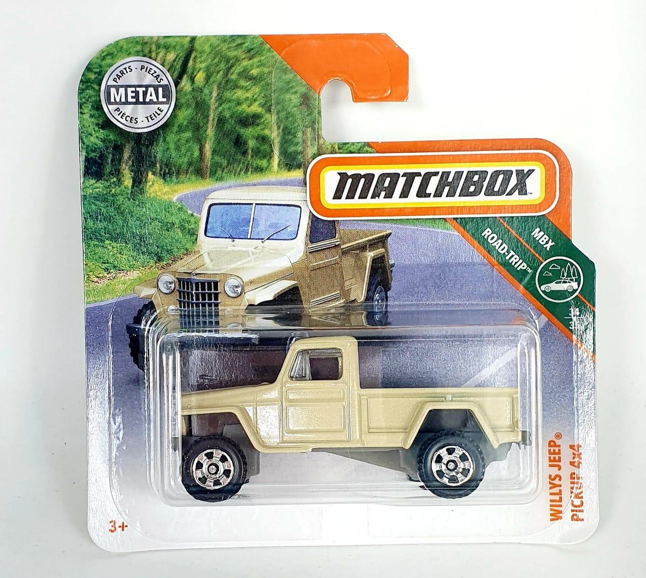 Miniatura Jeep Willys Pickup 4x4 1/64 Matchbox