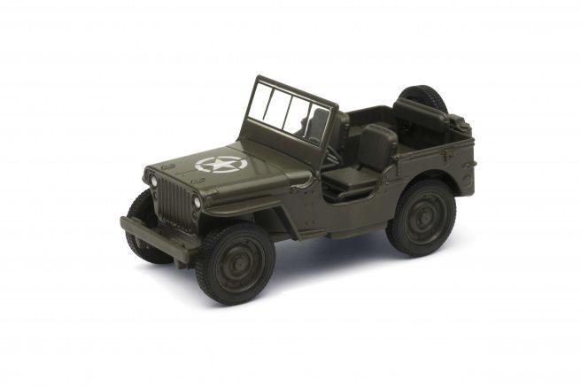 "Miniatura Jeep Willys Pull Back Fricção 4,5"" 1/43 Welly"