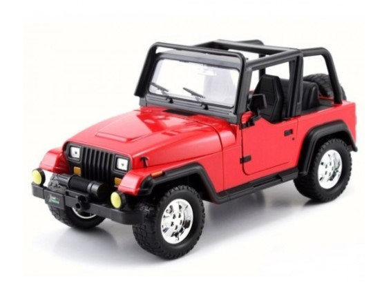 Miniatura Jeep Wrangler 1992 1/24 Jada Toys