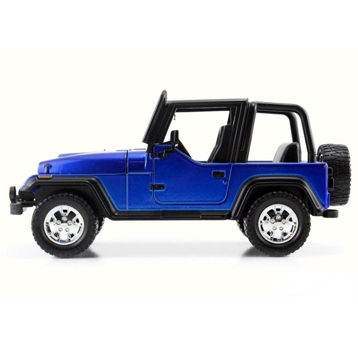 Miniatura Jeep Wrangler 1992 Azul 1/24 Jada Toys