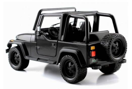 Miniatura Jeep Wrangler 1992 Preto 1/24 Jada Toys