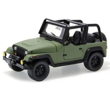 Miniatura Jeep Wrangler 1992 Verde Militar 1/24 Jada Toys