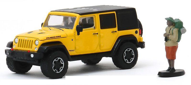 Miniatura Jeep Wrangler 2015 com Boneco 1/64 Greenlight