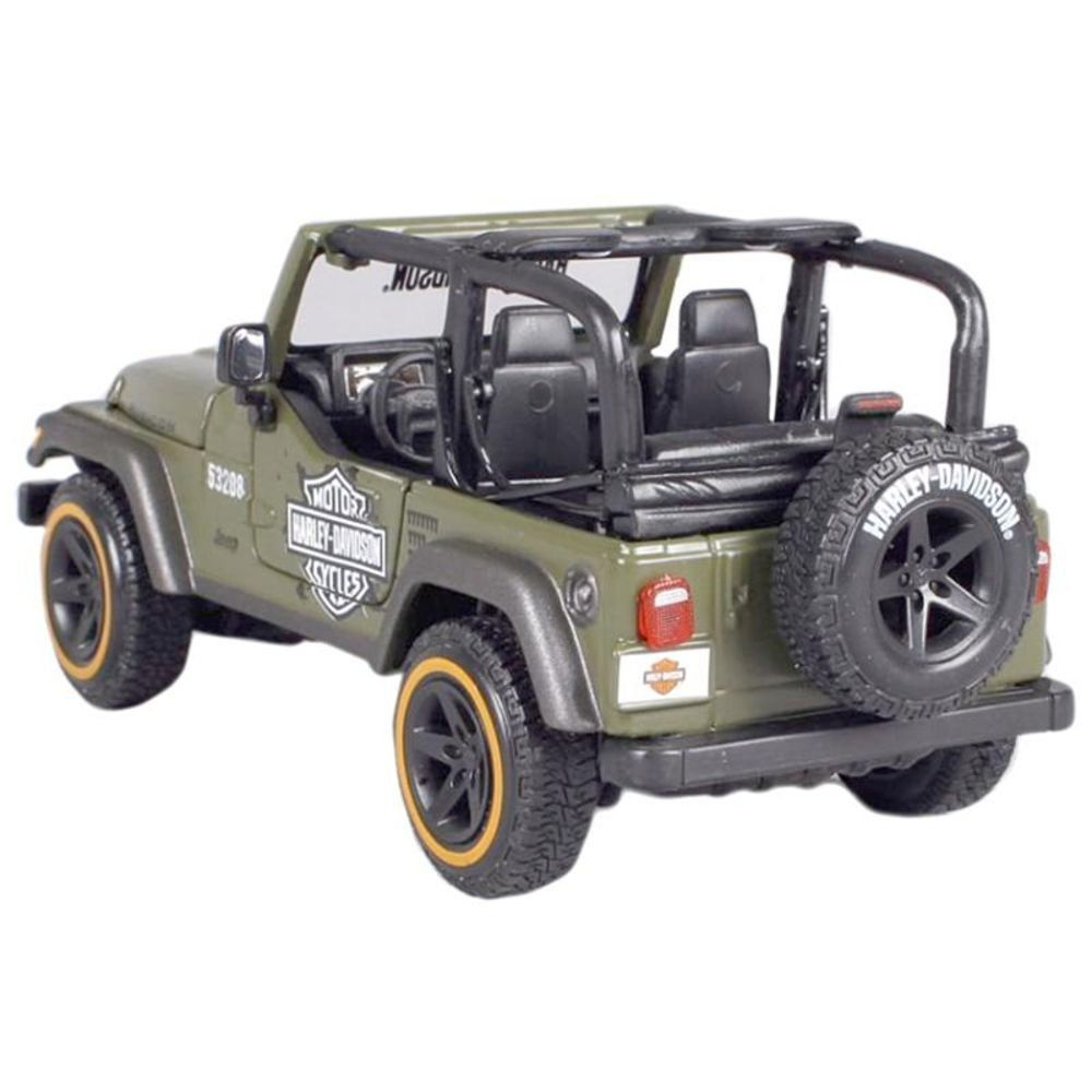 Miniatura Jeep Wrangler Rubicon Harley Davidson 1/24 Maisto