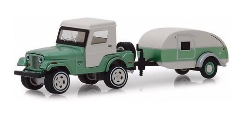 Miniatura Kit Jeep CJ-5 1972 and Tear Drop Trailer 1/64 Greenlight