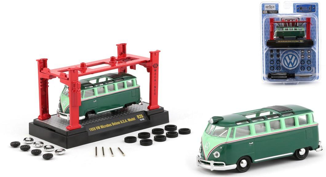 Miniatura Kombi 1959 Elevador Troca Rodas 1/64 M2
